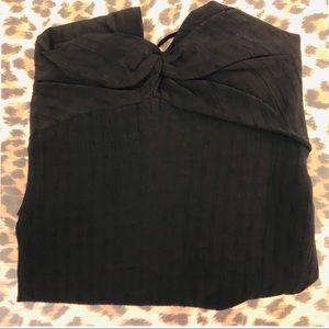 NWT trf By Zara Black Cami Top Size L